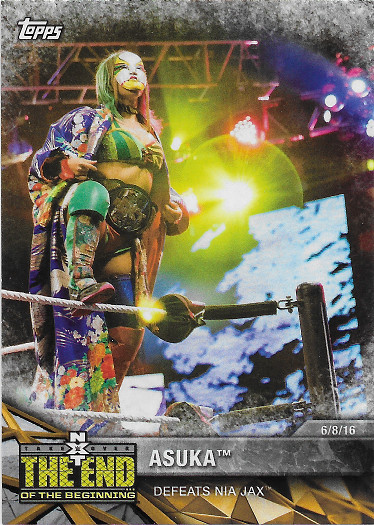 2017 Topps WWE Women's Division Matches & Moments #NXT-17 Asuka Defeats Nia Jax
