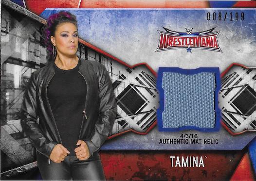 2017 Topps WWE Women's Division Mat Relics #MR-TAM Tamina WrestleMania 32