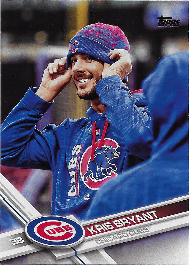 2017 Topps #1 Kris Bryant VAR SP (Blue Jacket and Hat)