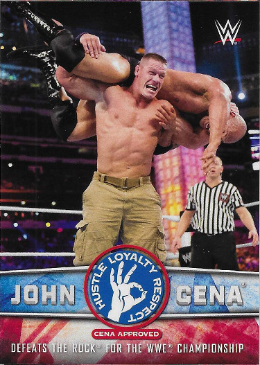 2017 Topps WWE John Cena Tribute #32 Defeats The Rock for the WWE Championship