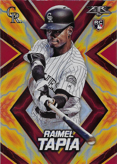 2017 Topps Fire Red Flame #80 Raimel Tapia RC