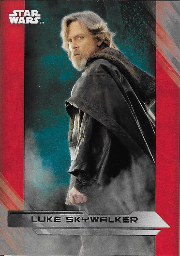 2017 Topps Star Wars The Last Jedi Silver #2 Luke Skywalker