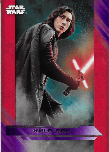 2017 Topps Star Wars The Last Jedi Purple #3 Kylo Ren