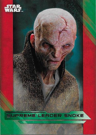 2017 Topps Star Wars The Last Jedi Green #25 Supreme Leader Snoke