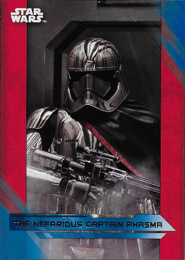 2017 Topps Star Wars The Last Jedi                 Blue  #77                 The Nefarious Captain Phasma image