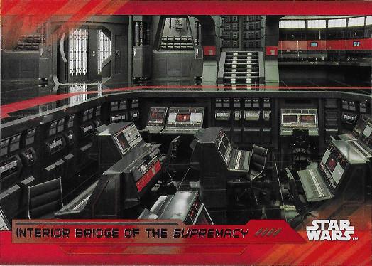 2017 Topps Star Wars The Last Jedi Red #84 Interior Bridge of the Supremacy