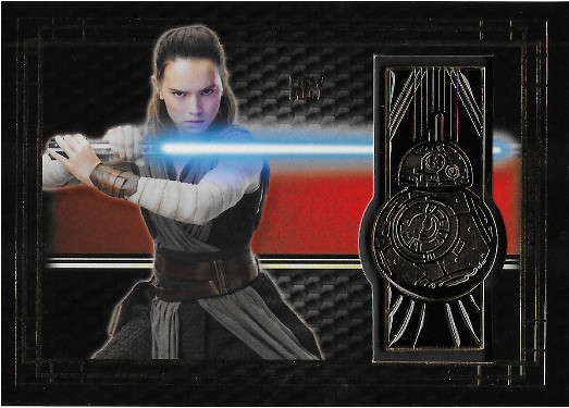 2017 Topps Star Wars The Last Jedi Commemorative Emblems #BG-RB Rey / BB-8