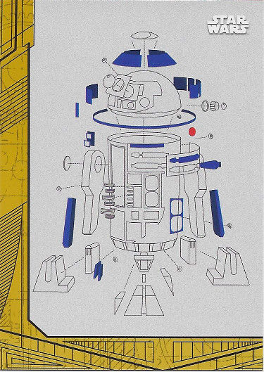 2017 Topps Star Wars The Last Jedi Blueprints Gold #BP-7 R2-D2