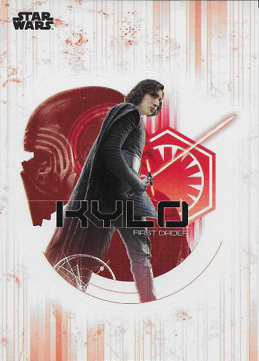 2017 Topps Star Wars The Last Jedi Character Die-Cut Stickers #DS-1 Kylo Ren