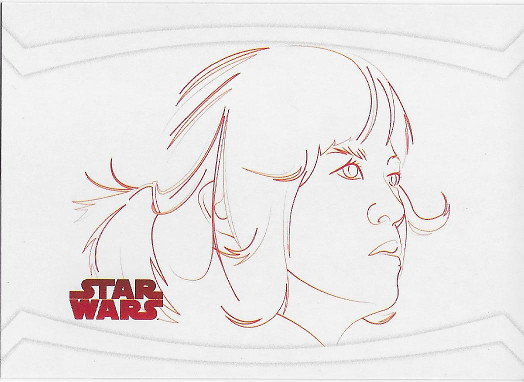 2017 Topps Star Wars The Last Jedi Red Line Artwork #RL-8 Rose Tico