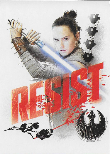 2017 Topps Star Wars The Last Jedi Resist! #R-8 Rey