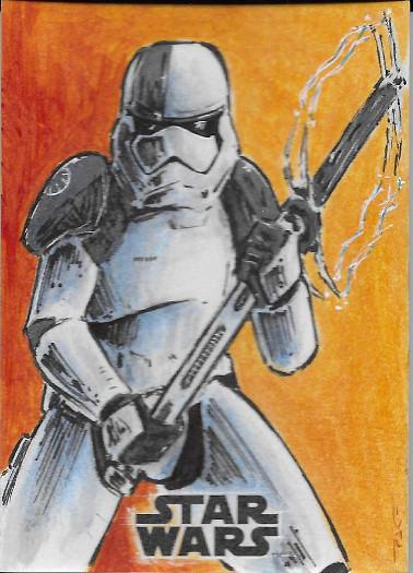 2017 Topps Star Wars The Last Jedi Sketch Cards # Patricio Carrasco