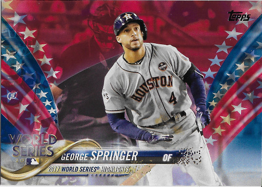 2018 Topps Independence Day #154 George Springer WS
