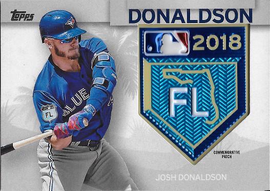 2018 Topps MLB Spring Training Patches #STP-JD Josh Donaldson