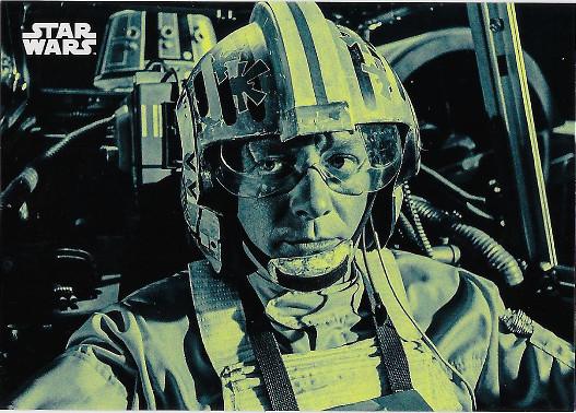 2018 Topps Star Wars Black & White Green #129 Red Leader: Garven Dreis