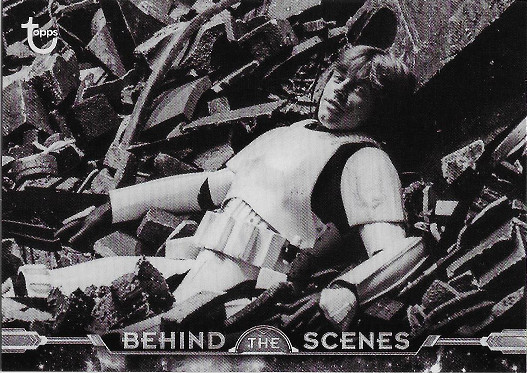2018 Topps Star Wars Black & White Behind the Scenes #BTS-12 A Funny Resting Place