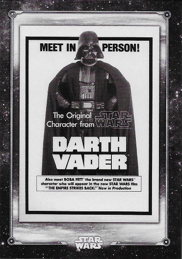 2018 Topps Star Wars Black & White Posters #PO-10 Darth Vader in Person!