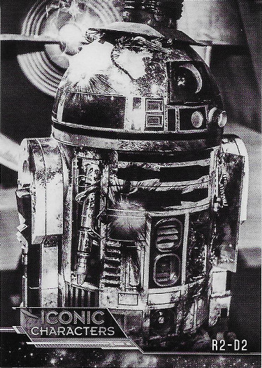 2018 Topps Star Wars Black & White Iconic Characters #IC-7 R2-D2