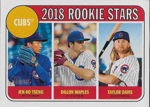 2018 Topps Heritage #297 Taylor Davis / Dillon Maples / Jen-Ho Tseng RC