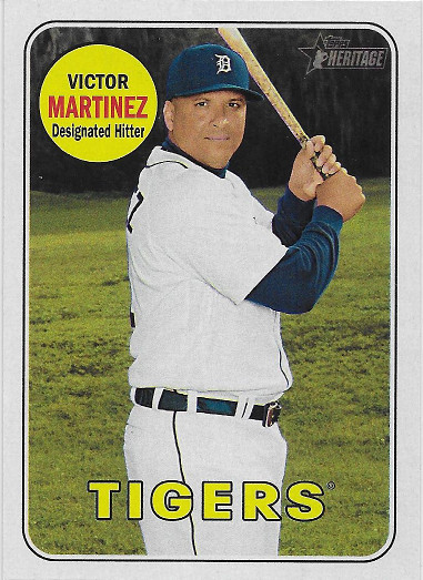 2018 Topps Heritage #427 Victor Martinez SP