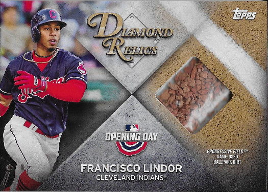 2018 Topps Opening Day Diamond Relics #DR-FL Francisco Lindor