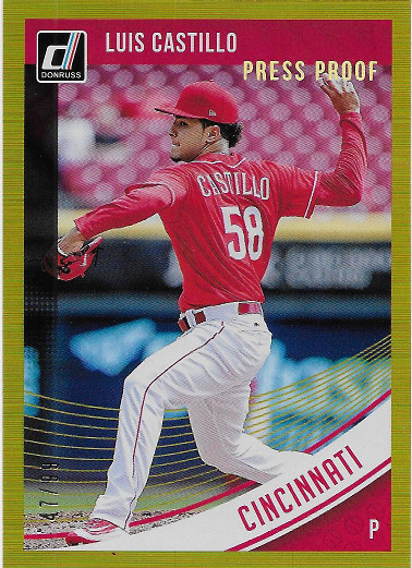 2018 Donruss Gold Press Proof #88 Luis Castillo