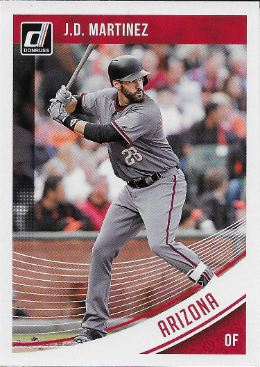 2018 Donruss #199 J.D. Martinez