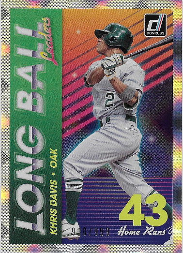 2018 Donruss Long Ball Leaders #4 Khris Davis