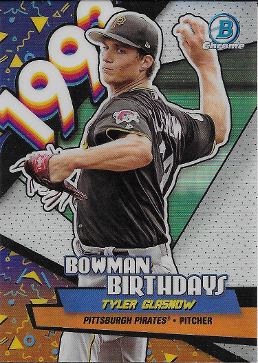 2018 Bowman Bowman Birthdays #BB-TG Tyler Glasnow