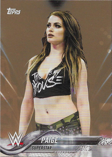 2018 Topps WWE Bronze #71 Paige