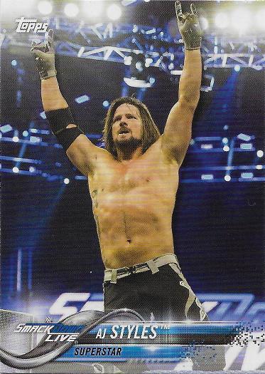 2018 Topps WWE #2 AJ Styles VAR SSP (Arms apart, no shirt)