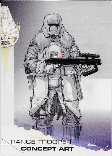 2018 Topps Solo: A Star Wars Story #98 Range Trooper Concept Art