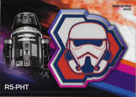 2018 Topps Solo: A Star Wars Story Commemorative Patch Manufactured Relic #MP-RS R5-PHT - Stormtrooper Patch