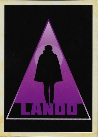 2018 Topps Solo: A Star Wars Story Silhouettes #SL-3 Lando Calrissian