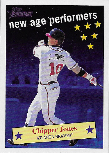 2001 Topps Heritage New Age Performers #NAP6 Chipper Jones