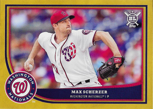 2018 Topps Big League Gold #240 Max Scherzer