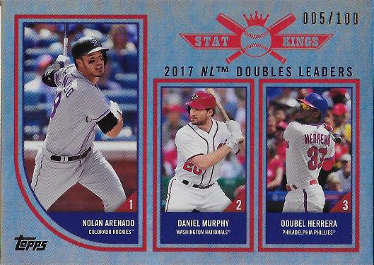 2018 Topps Big League Rainbow Foil #307 Odubel Herrera / Daniel Murphy / Nolan Arenado Stat Kings