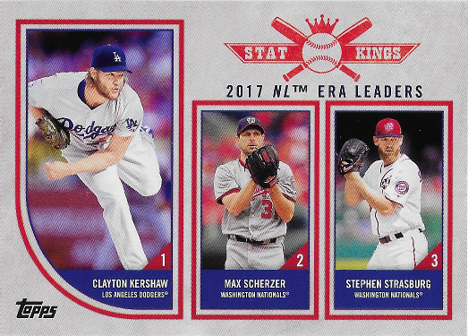 2018 Topps Big League #319 Stephen Strasburg / Max Scherzer / Clayton Kershaw Stat King