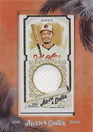 2018 Allen & Ginter Framed Relic #MFR-AJ Adam Jones