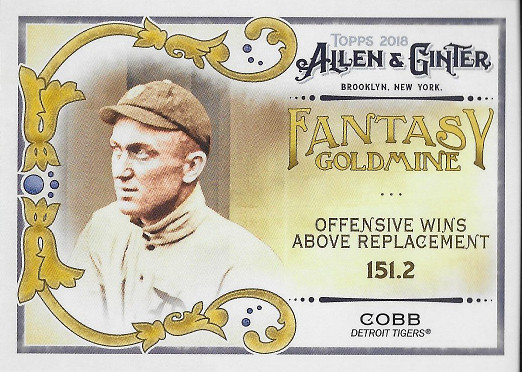 2018 Allen & Ginter Fantasy Goldmine #FG-32 Ty Cobb