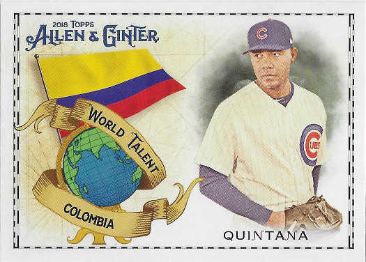 2018 Allen & Ginter World Talent #WT-7 Jose Quintana