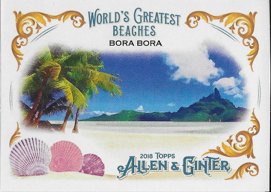 2018 Allen & Ginter World's Greatest Beaches #WGB-2 Bora Bora