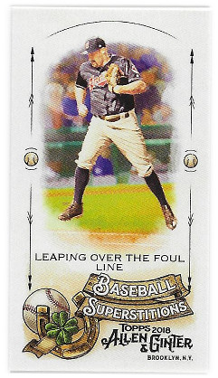 2018 Allen & Ginter Baseball Superstitions #MBS-5 Leaping over the Foul line
