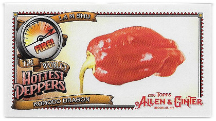2018 Allen & Ginter The World's Hottest Peppers #WHP-9 Komodo Dragon