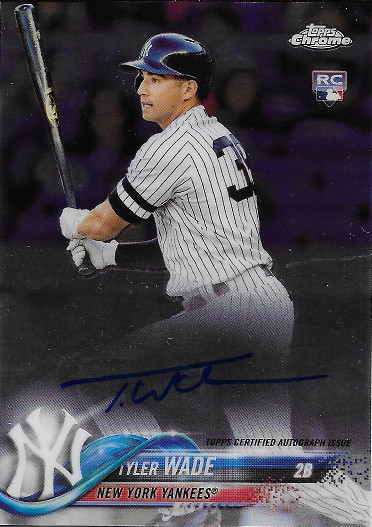 2018 Topps Chrome Rookie Autographs #RA-TW Tyler Wade RC