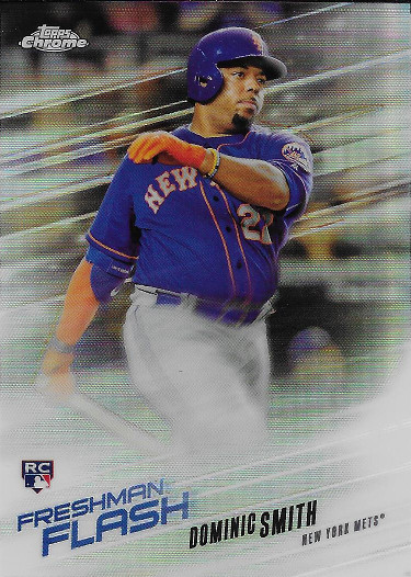 2018 Topps Chrome Freshman Flash #FF-3 Dominic Smith RC