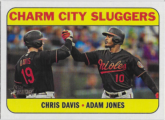 2018 Topps Heritage Combo Cards #CC-6 Adam Jones / Chris Davis