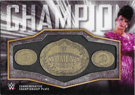 2018 Topps WWE Women's Division Commemorative Medallion Championship #CC-SS Sensational Sherri WWE Women's Championship