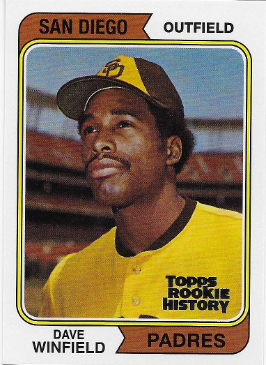 2018 Topps Archives Topps Rookie History #456 Dave Winfield