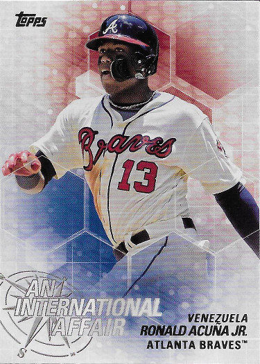 2018 Topps An International Affair #IA-47 Ronald Acuna Jr. RC